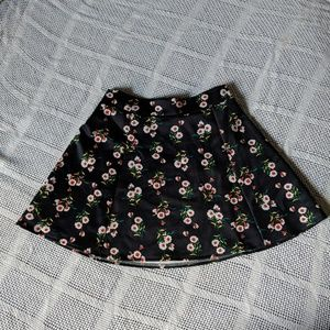Floral scuba circle skirt